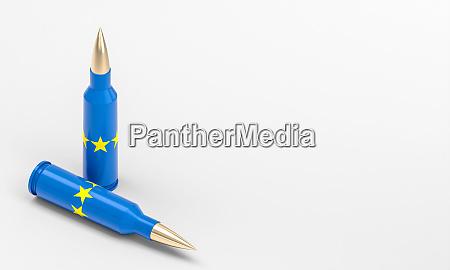 gewehrkugeln mit europaflagge