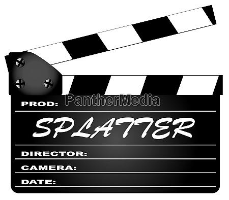 splatter movie clapperboard