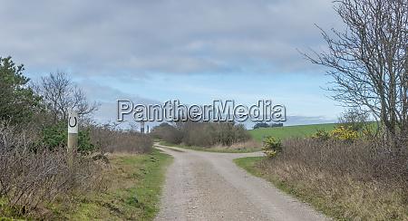 landscape with bridle path