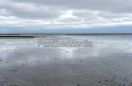 mud flat on the island of