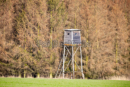 wooden hunters high seat jagdturm