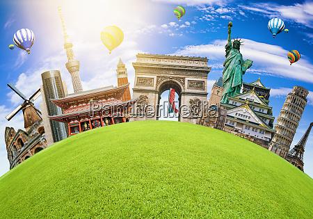 famous, landmarks, of, the, world, grouped - 28251386