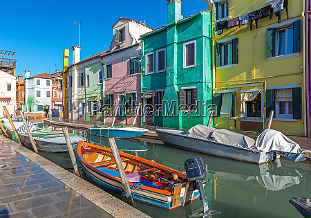 colorful houses in burano venice