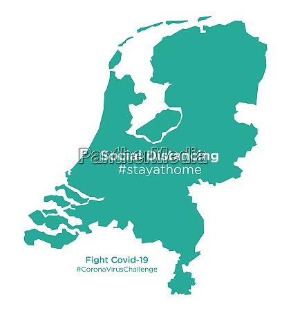 niederlande karte mit social distancing stayathome