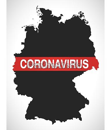 deutschlandkarte mit demonstantial coronavirus covid 19