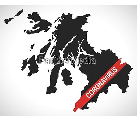strathclyde scotland uk region karte mit