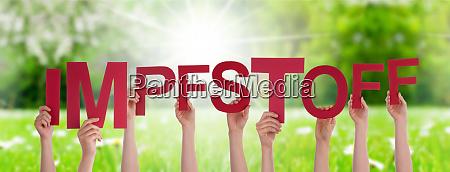 menschen, hände, halten, wort, impfstoff, bedeutet - 28261157