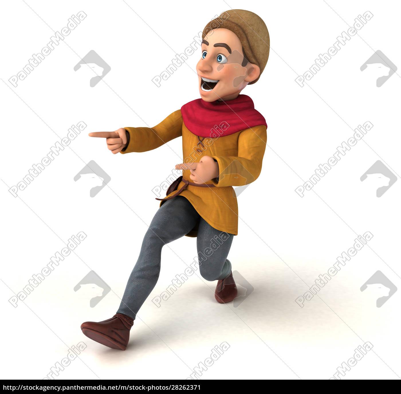 3d, illustration, eines, mittelalterlichen, historischen, charakters - 28262371