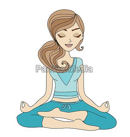 yoga maedchen in lotus position