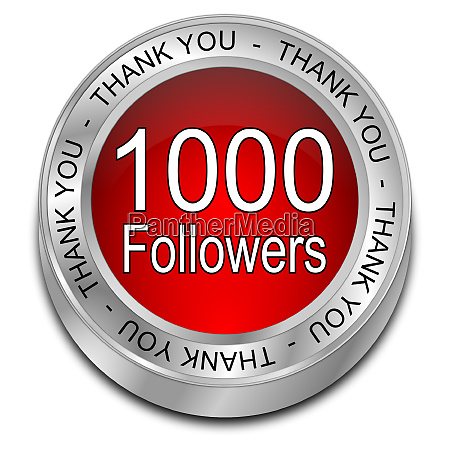 red 1000 followers thank you