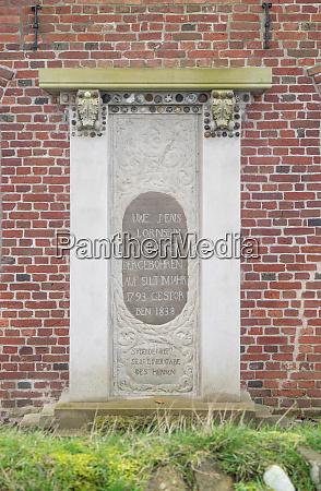 plaque for uwe jens lornsen