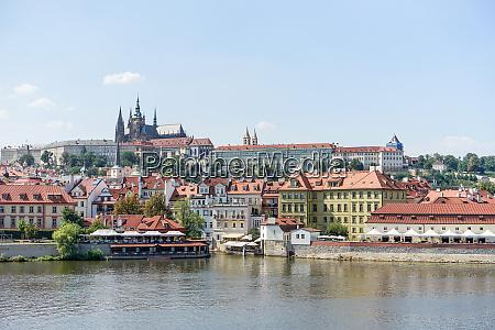 view over the vltava in prague
