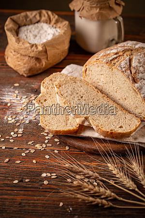 homemade bread concept