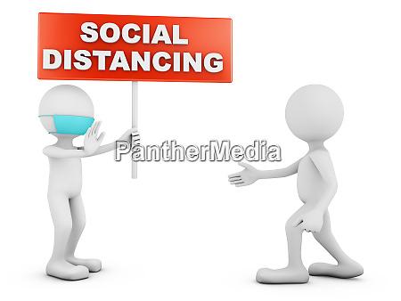 zeichen sozial distancing