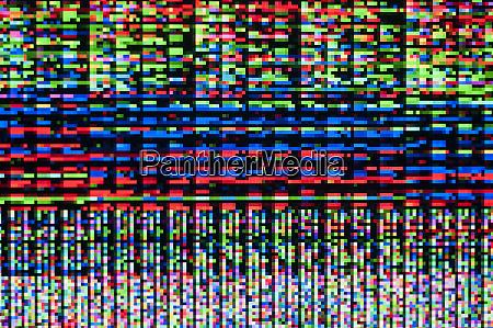 pixelmuster eines digitalen fehlers