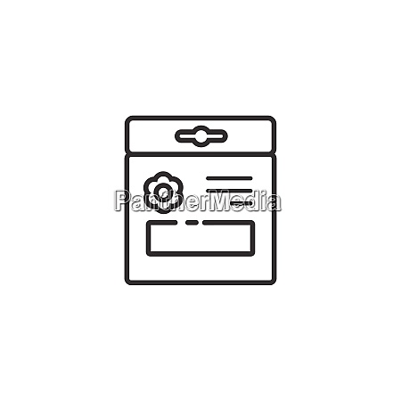 seed bag outline icon gardening vector