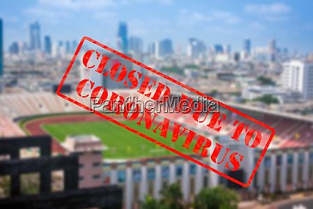 defocused view of stadium or sports