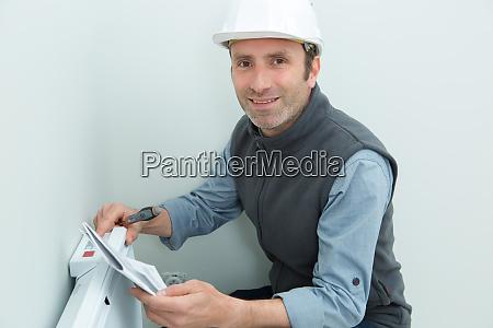portraet der thermostat basisinstallation