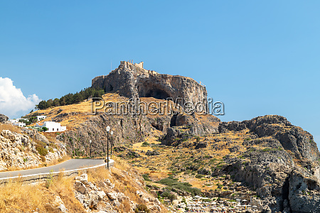 view at the acropolis of lindos