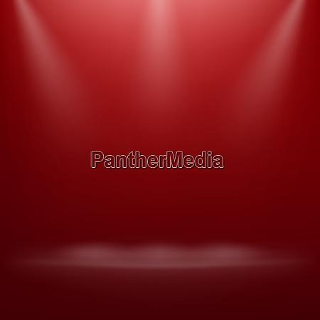 rotes scheinwerferlicht auf der theaterbuehne eps
