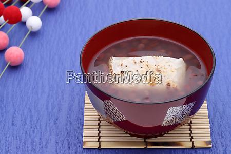 japanese, confectionery, , oshiruko, sweet, in, a - 28300305