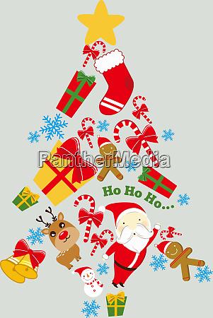 weihnachtsbaum santa claus rudolph winter praesentieren