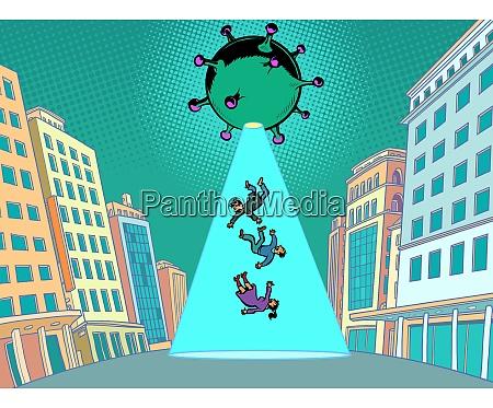 coronavirus epidemie als alien invasion ein