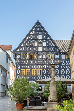 historic half timbered house in weimar
