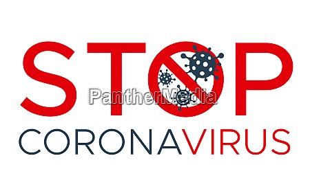 stop, coronavirus, vektor-schriftzug., coronavirus-zelle, im, verbotszeichen. - 28323204