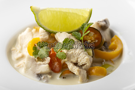 thai tom kha homosexuell suppe mit