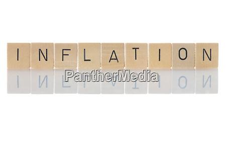 inflation geldgeldabwertung aufgrund anhaltender anstiegdes des