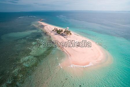 aerial view of hagonoy island beach