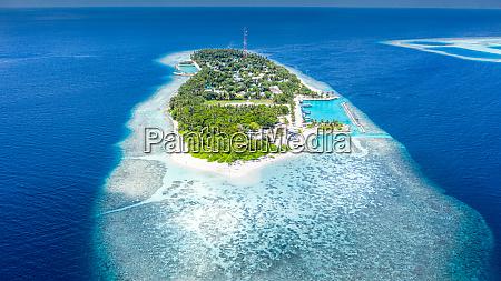 aerial view of local island hangnaameedhoo