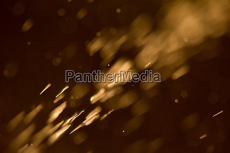 abstrakte orange lichter wie feuerfunkeln