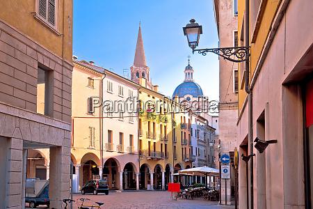 mantova idyllic italian city street and