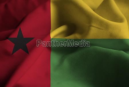 nahaufnahme der geruegung guinea bissau flagge