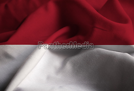 nahaufnahme von ruffled monaco flagge monaco