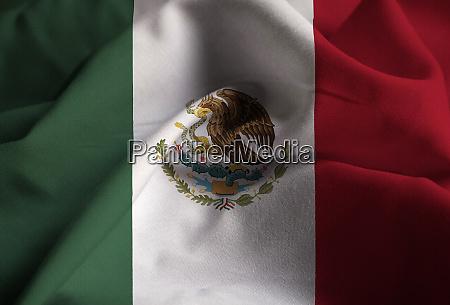 nahaufnahme von ruffled mexiko flagge mexiko