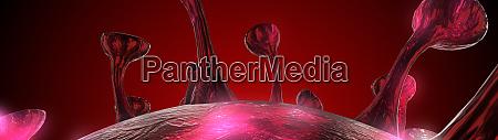 mikroskop viruszelle pandemiebakterien erregern medizinisches gesundheitsrisiko