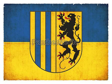flagge der deutschen stadt chemnitz sachsen