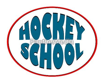 hockeyschule logo fuer eine sportorganisation wintersport