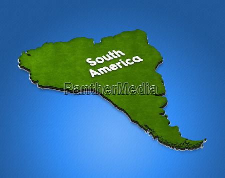 karte von suedamerika 3d isometrische darstellung