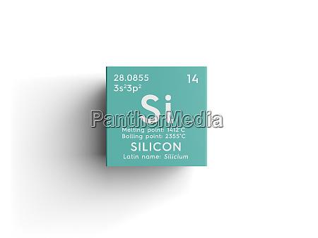 silicon silicium metalloide chemisches element von