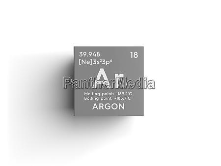 argon edelgase chemisches element von mendeleevs