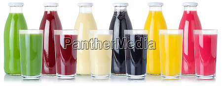 group of fresh fruit smoothies fruits
