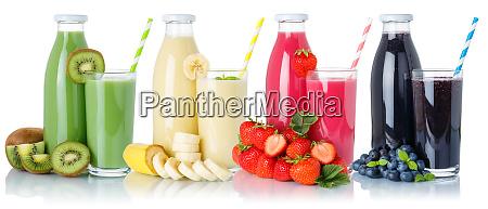 sammlung von smoothies fruchtsaft trinken glas