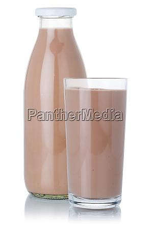 frische schokolade milch shake milchshake glas