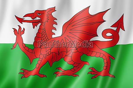 wales flagge vereinigtes koenigreich