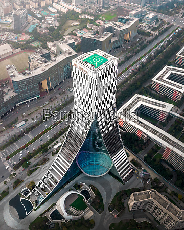luftaufnahme des china europe center chengdu