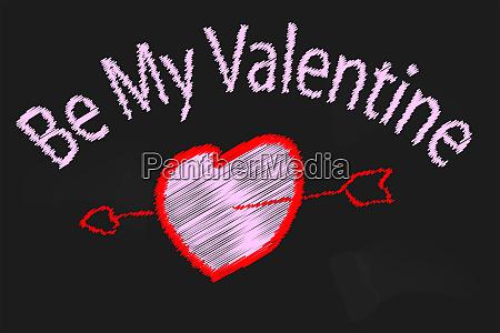 valentine blackboard